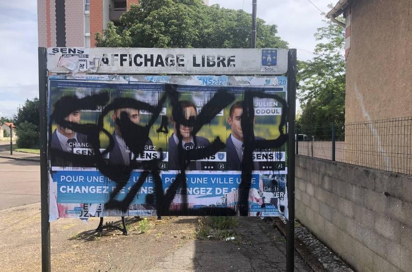 La frénésie électorale s'affiche un peu trop à Sens : la Ville procède au nettoyage de printemps !