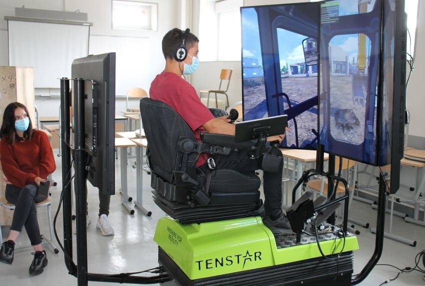 Le CFA La Brosse à la pointe de la technologie éducative : sept simulateurs de conduite d'engins prévus d'ici 2022 ?