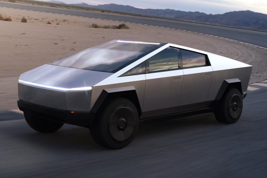 Retour vers le futur ? Non, c'est le nouveau pick-up CYBERTRUCK signé par TESLA !