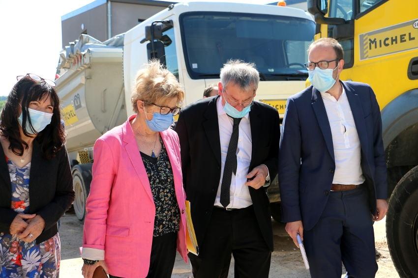La démolition véritable opportunité économique pour MICHEL SAS : la présidente de la Région salue l'initiative…
