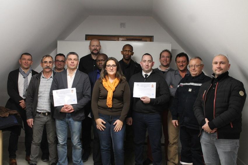 Deux candidats survolent la première formation SSIAP 3 dispensée par CPFI dans l'Yonne