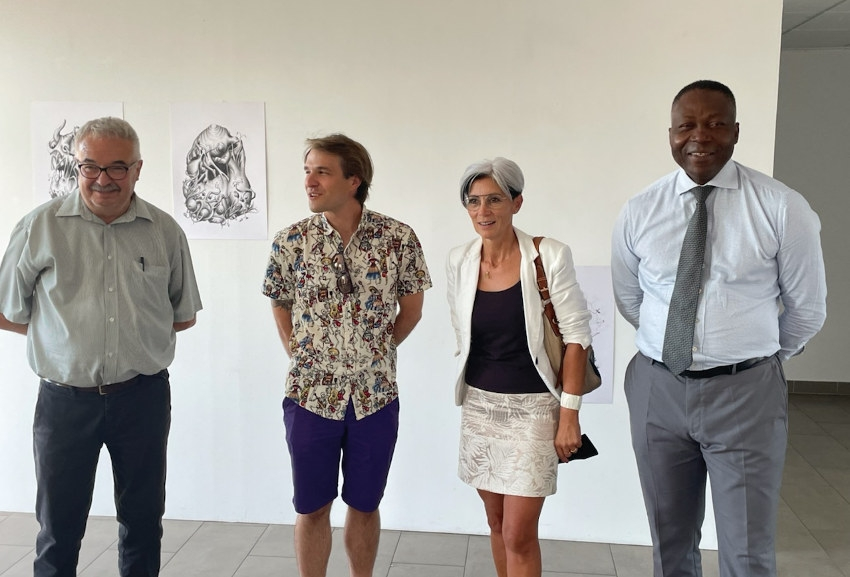 Ultime prouesse créative en guise de bouquet final pour le plasticien Thibault MESSAC à Gurgy