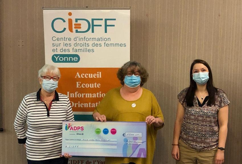 L'ADPS se fait mécène auprès du CIDFF : parce que les actions en faveur des femmes et des familles le valent bien...