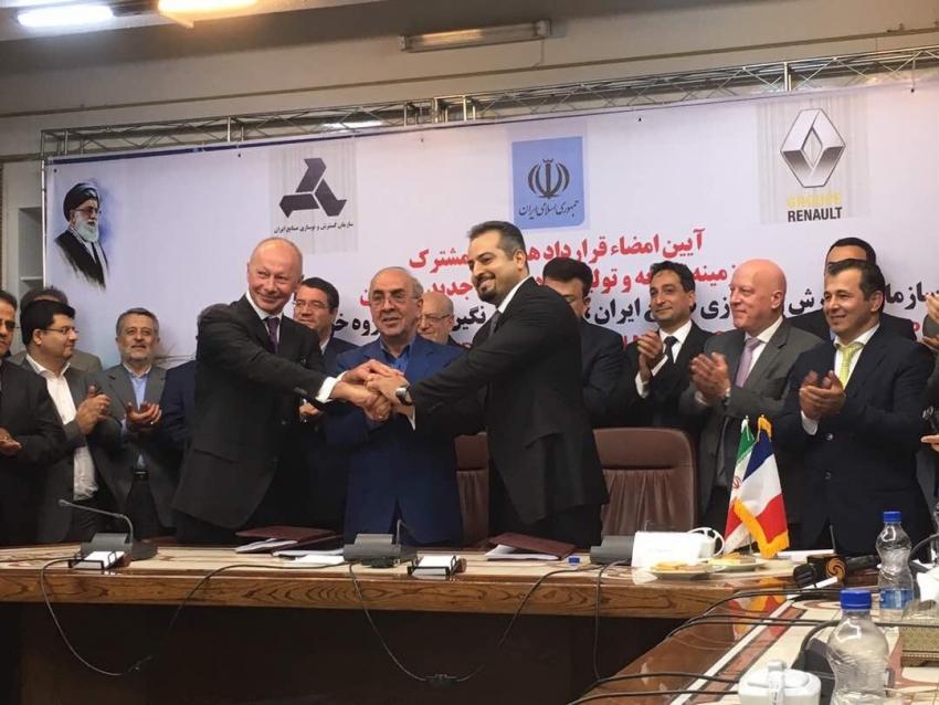RENAULT renforce ses activités en Iran grâce à une nouvelle joint-venture…