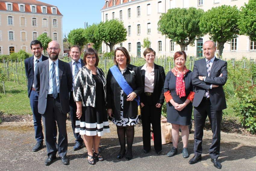Le lycée Vauban à l'heure de l'Europe avec l'évaluation du label Erasmus + et la visite de députés…