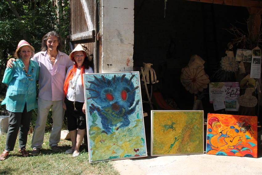 Prise de repères avant l'installation : Laurent NEVEU (alias LOL) dévoilera bientôt ses œuvres au Donjon de Cravant