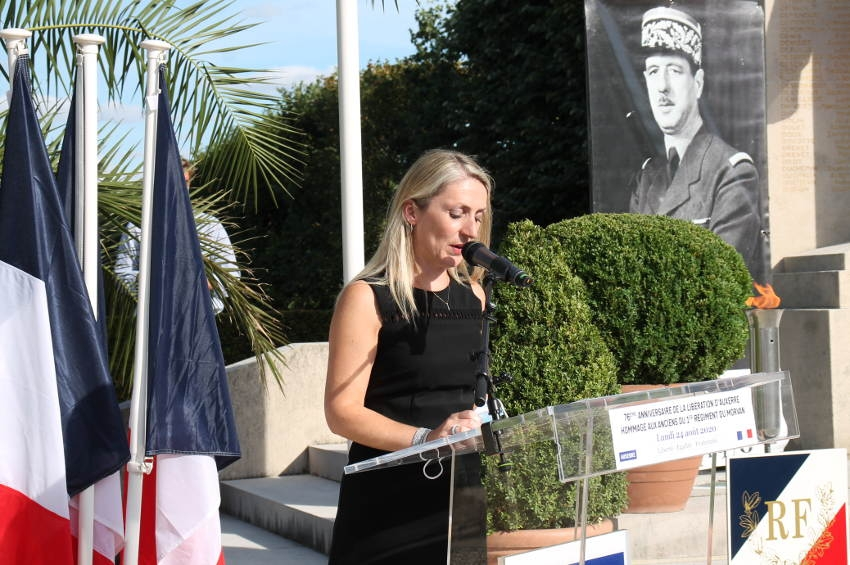 Cérémonie de la Libération d'Auxerre : une première protocolaire pour l'élue Patricia VOYE…