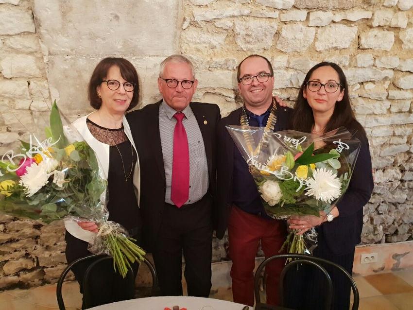 Rotary Club Auxerre Saint-Germain : Ludovic QUIGNARD reçoit le collier qui symbolise sa nouvelle présidence…