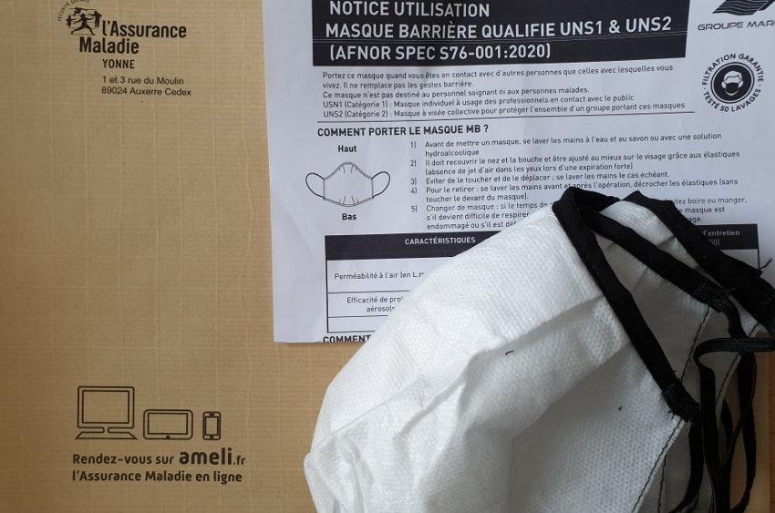 Deux vagues de plis postaux bientôt en partance : la CPAM distribue des masques aux assurés sociaux fragilisés
