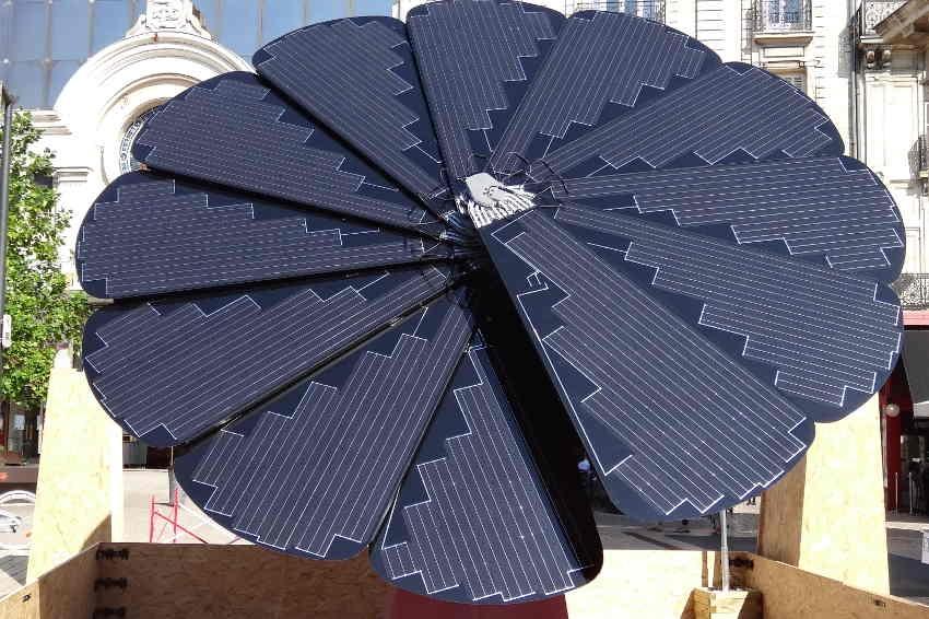 EDF ENR Solaire crée la surprise avec son étrange végétal, un générateur intelligent d'électricité, aux RIDY…