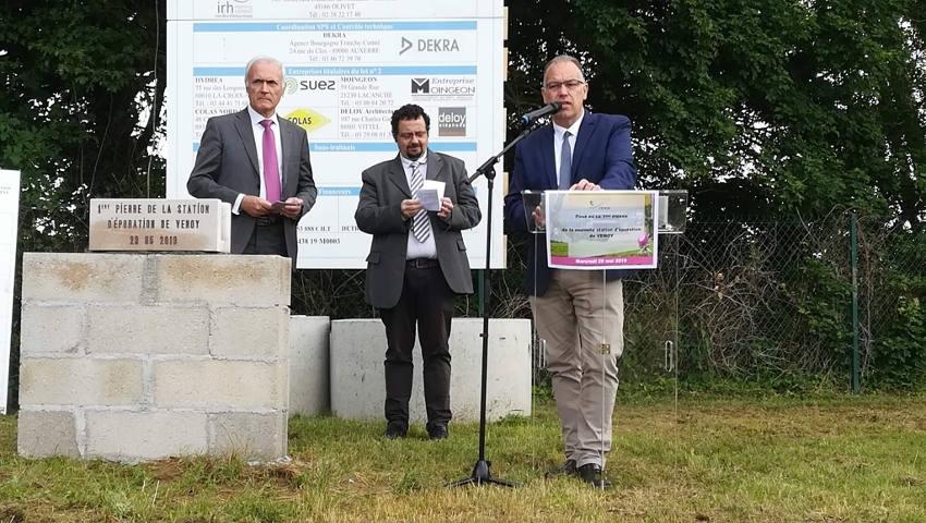 Bénéficiant d'un « Aqua Prêt », VENOY pose la première pierre de sa nouvelle station d'épuration…