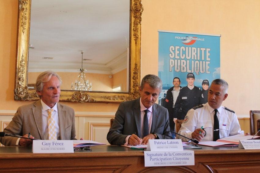 Sécurité : le 78ème  protocole de participation citoyenne a été validé à Auxerre