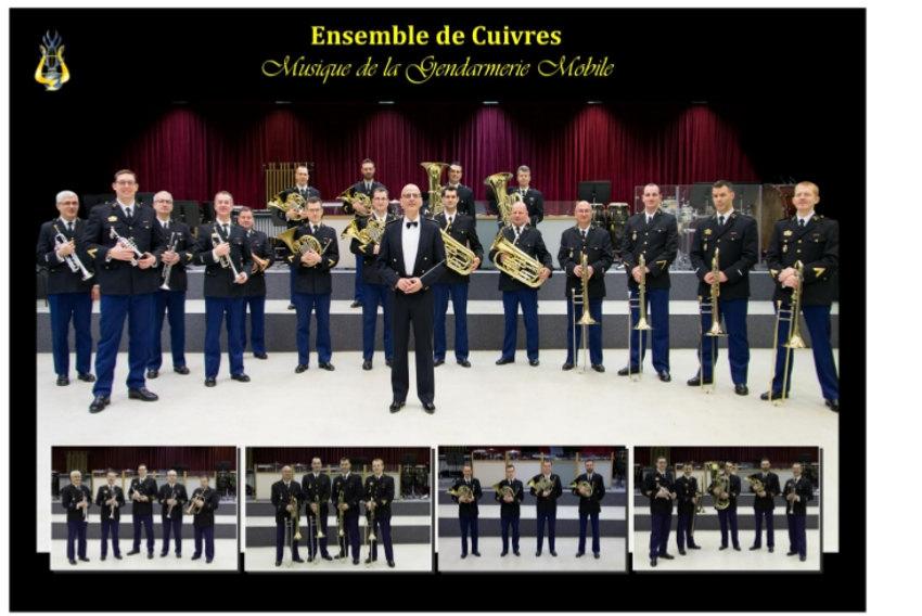 Un ensemble de cuivres au diapason des œuvres sociales portées par les Amis de la Gendarmerie de l'Yonne…
