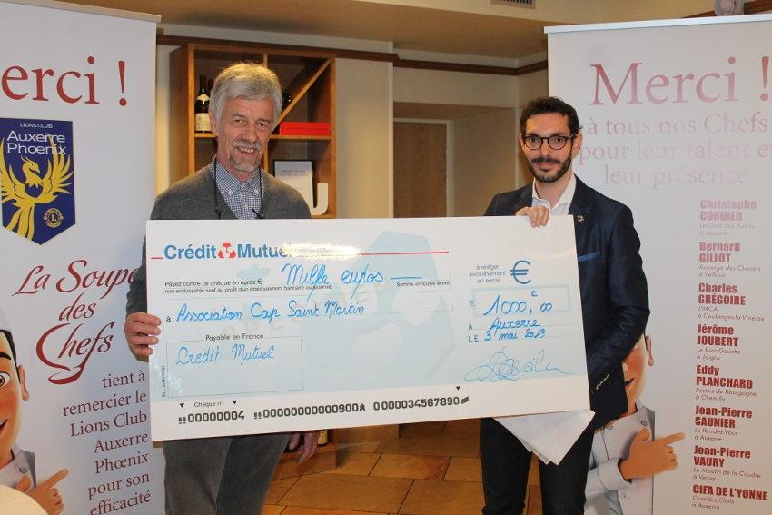 Altruisme : le Lions Club Auxerre Phoenix encourage le généreux travail des bénévoles de Cap Saint-Martin