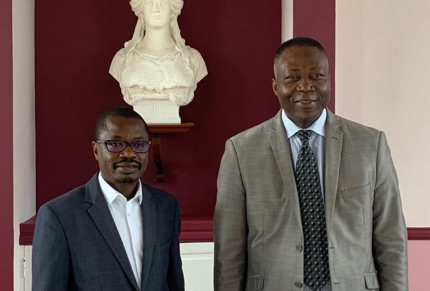 Appoigny construit une passerelle avec l'Afrique : l'ambassadeur chef de mission adjoint du Bénin en France reçu par Magloire SIOPATHIS