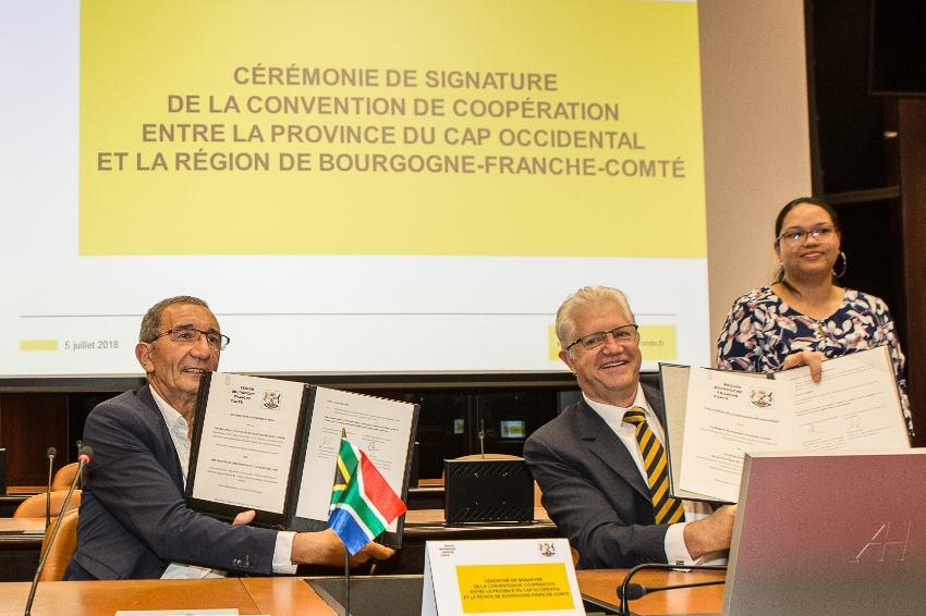La Province du Cap occidental et la Bourgogne Franche-Comté élargissent le cadre de leurs futures interventions…