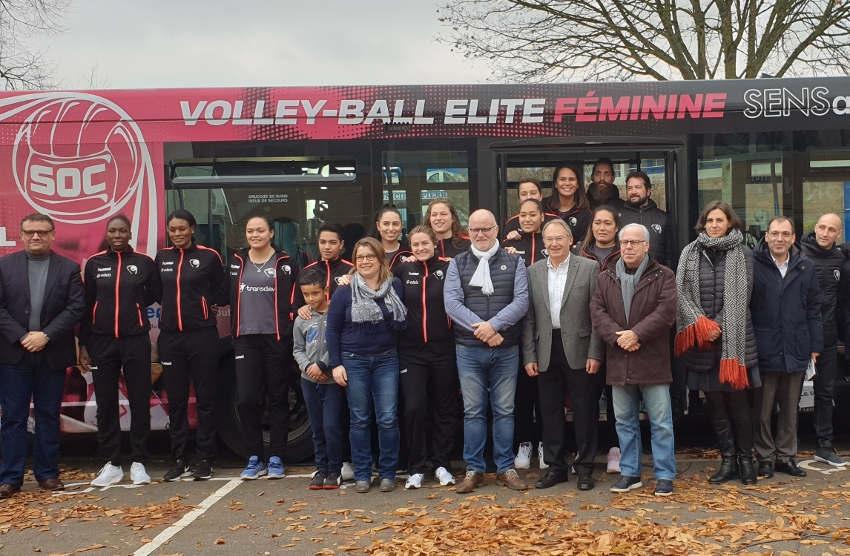 Le volley-ball s'affiche désormais sur les routes : le Sens Olympique Club ajoute de l'itinérance à sa communication