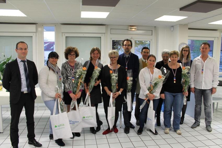 Pluie de médailles à la Caisse primaire d'assurance maladie de l'Yonne : l'engagement professionnel gratifié…